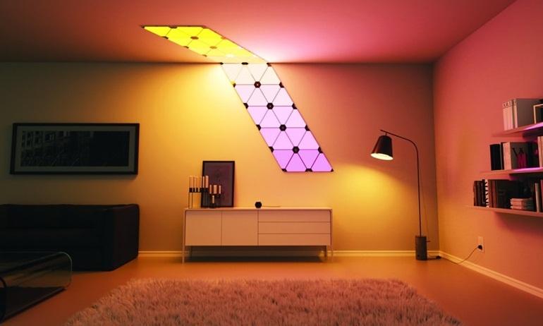 Thích thú với bộ đèn LED Nanoleaf Aurora lắp ráp như Lego