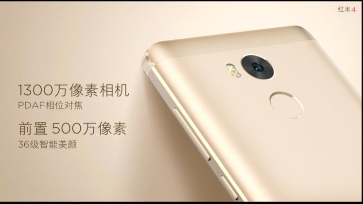 Xiaomi Redmi 4 ra mắt: Smartphone cảm biến vân tay mà giá chỉ từ 1.7 triệu