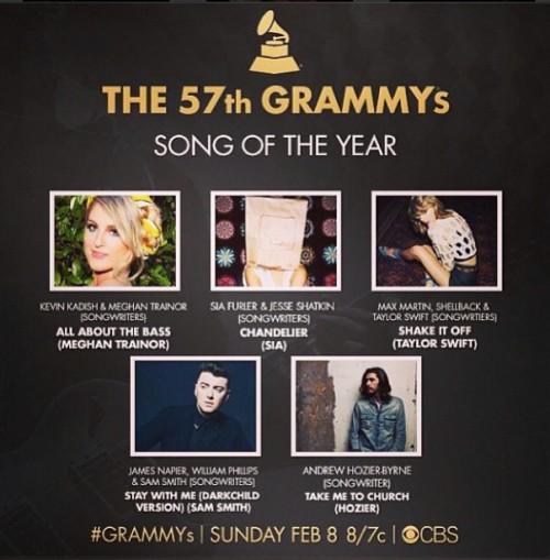 Beyoncé, Pharrell Williams, Sam Smith dẫn đầu danh sách đề cử Grammy 57