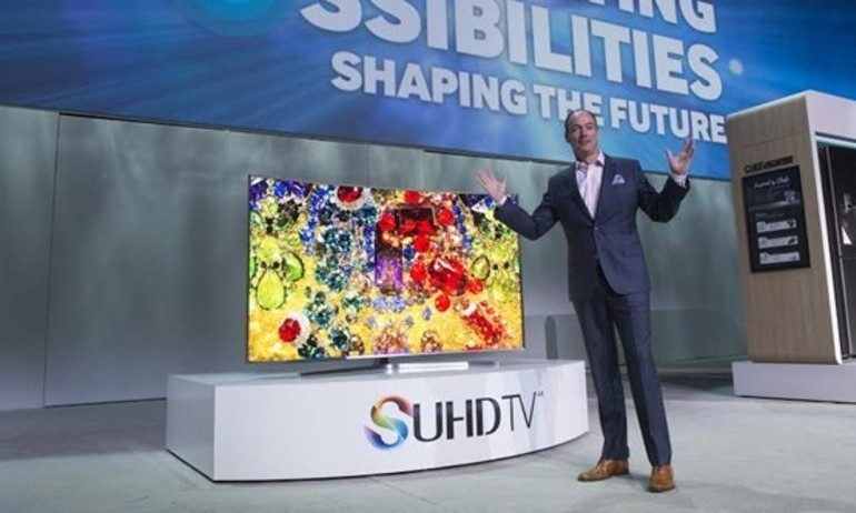 TV SUHD cong của Samsung sẽ về Việt Nam vào tháng 4