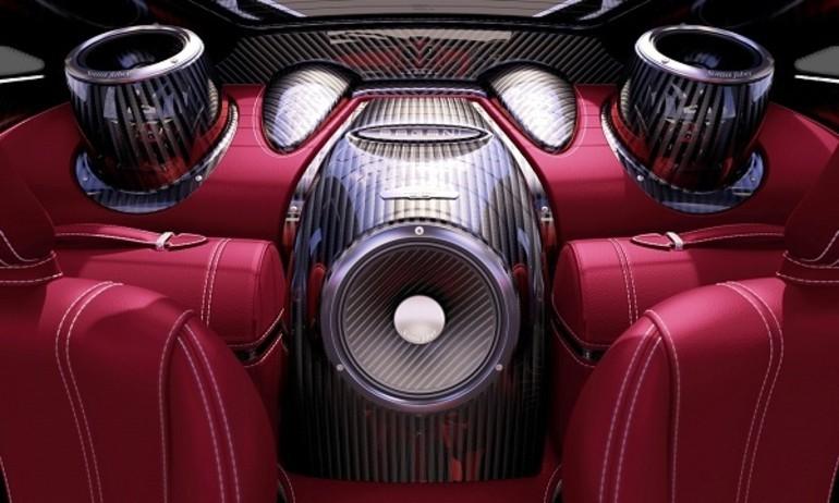 Nghe loa Sonus Faber trên siêu xe thể thao Pagani Huayra 2013
