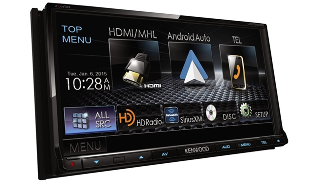 Kenwood giới thiệu receiver xe hơi dùng Android Auto