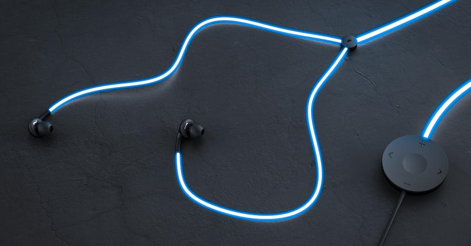 Glow: tai nghe phát sáng thông minh