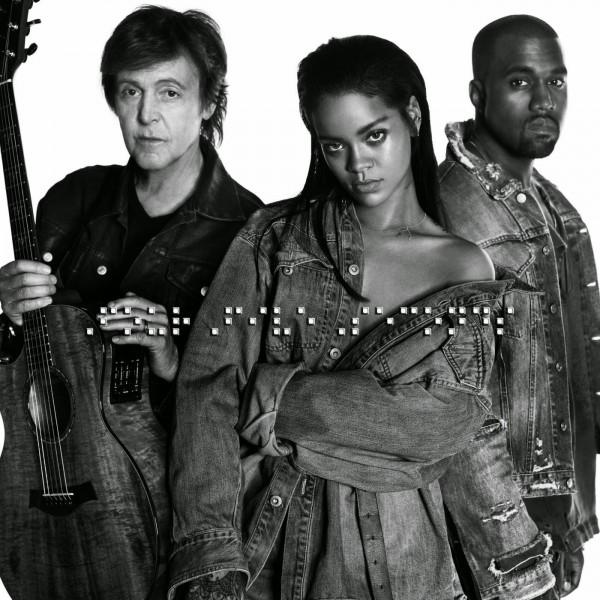 Bất ngờ với bộ 3 Rihanna, Kanye West và Paul McCartney trong MV 'FourFiveSecond'