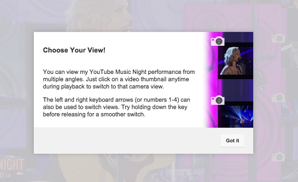 Youtube thử nghiệm xem video từ nhiều góc quay