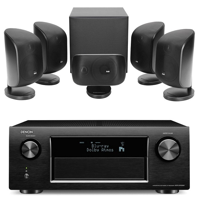 Ampli xem phim Denon AVR-X4100W: Mạnh mẽ với 7 kênh 165 watt