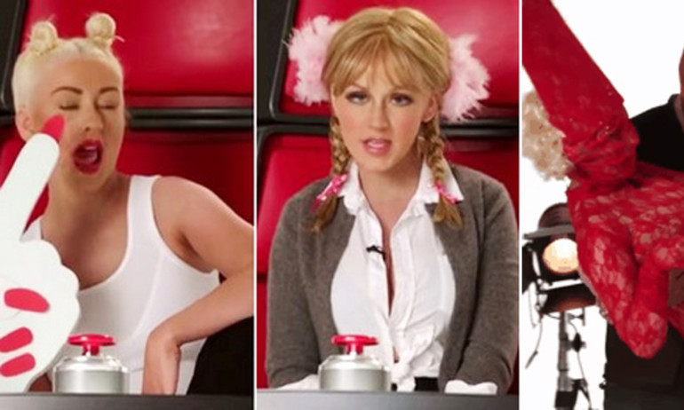 "Christina Aguilera ""nhái"" Britney, Miley, Lady Gaga"