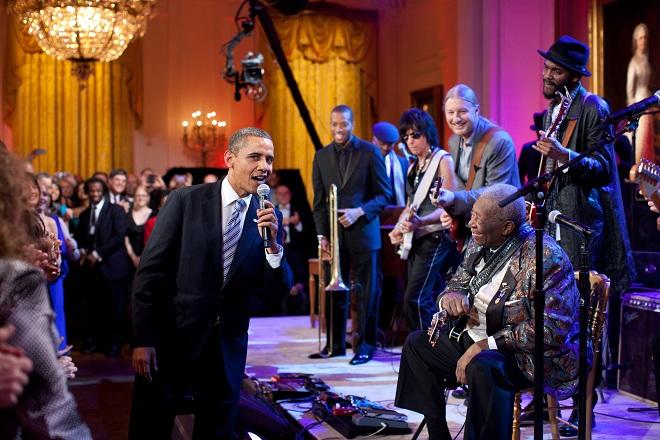 B.B.King từng song ca với Obama trong Nhà Trắng