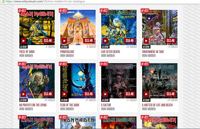 Onkyo Music phát hành 19 album Iron Maiden chuẩn FLAC 24bit