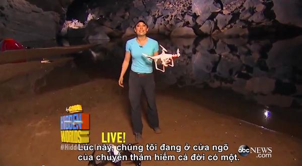 Hậu trường phát sóng trực tiếp Sơn Đoòng, hang Én của ABC