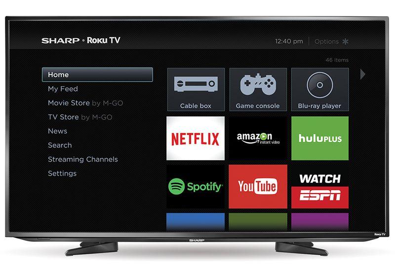 Sharp chính thức bán smart TV 2015 tích hợp Roku