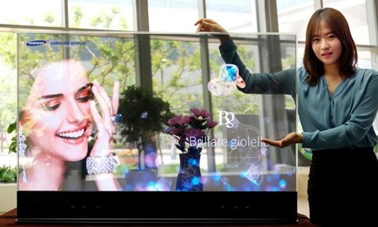 Samsung giới thiệu màn hình OLED trong suốt và dạng gương