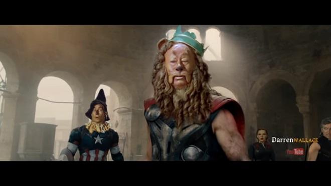 """Siêu hài video chế phim """"Biệt đội siêu anh hùng xứ Oz"""""""