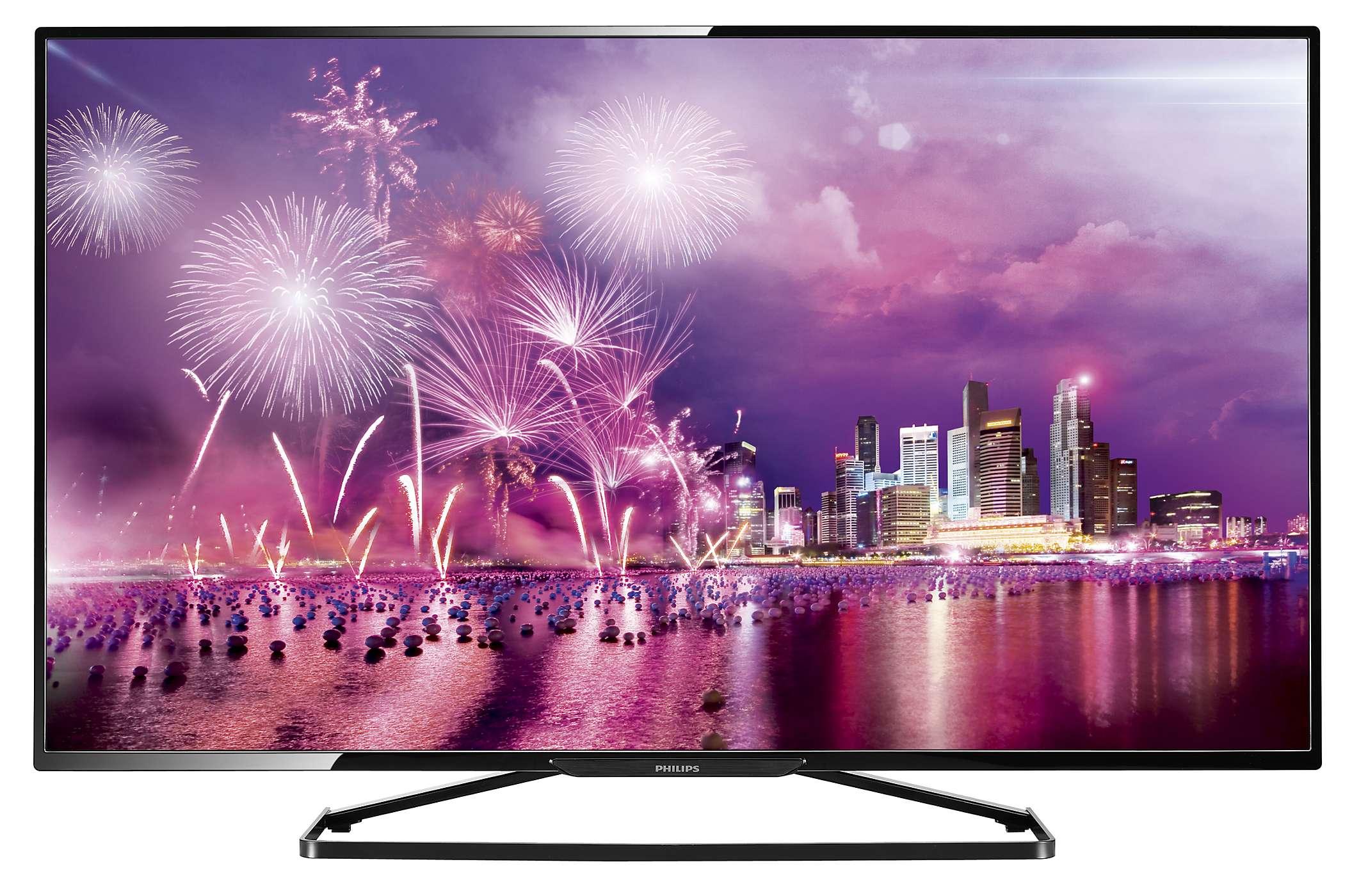 Smart TV Philips 6500: Sang trọng với đèn nền Ambilight