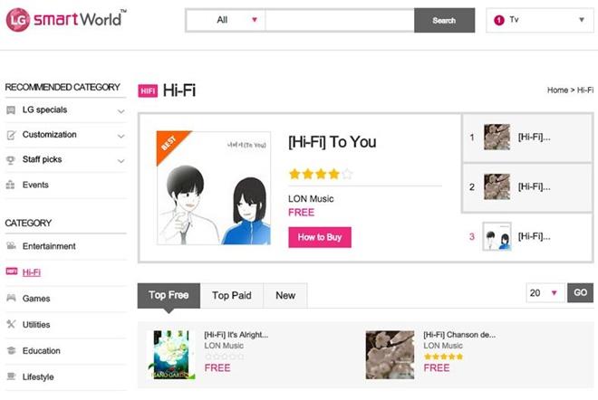 LG giới thiệu dịch vụ nhạc 24bit, miễn phí hàng tháng