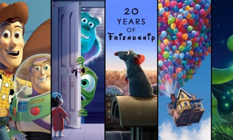 Những tình bạn không biên giới trong 20 năm hoạt hình Pixar