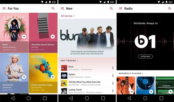 Apple Music chính thức có trên Android, miễn phí 3 tháng sử dụng