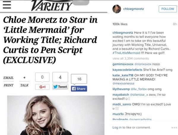 """Universal """"hy sinh"""" đạo diễn để mời Chloe Moretz về với phim mới"""