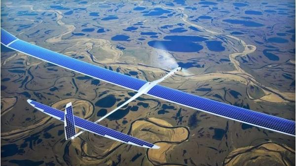 """Google thử nghiệm Drone """"bắn"""" Internet xuống mặt đất"""