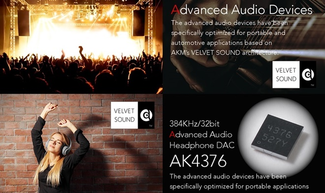 AKM chính thức ra mắt AK4376, combo DAC/headamp cao cấp cho thiết bị di động