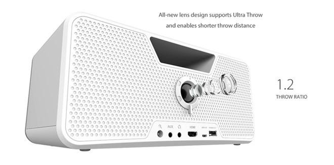 Dashbon Flicks: loa di động tích hợp sẵn máy chiếu tiện dụng