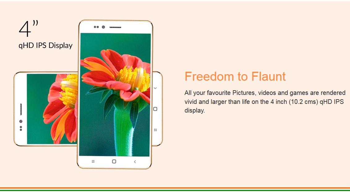 Freedom 251: Smartphone lõi tứ, màn 4 inch, giá chỉ 80 nghìn