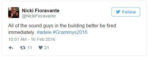 """Grammy 2016: """"All I Ask"""" của Adele bị phá hủy vì âm thanh vô duyên"""