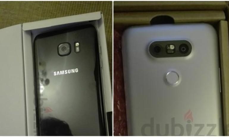 Galaxy S7 Edge và LG G5 đồng loạt lộ ảnh thật