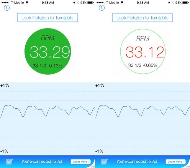 RPM: dùng iPhone kiểm tra độ chính xác của mâm đĩa nhựa