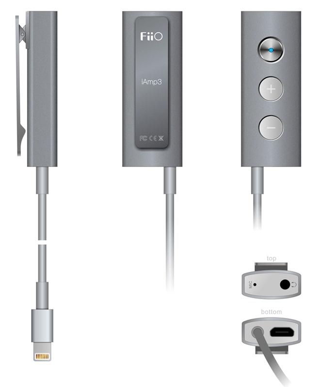 Lộ ảnh Fiio iAMP3: DAC kiêm ampli dành cho iPhone, iPad