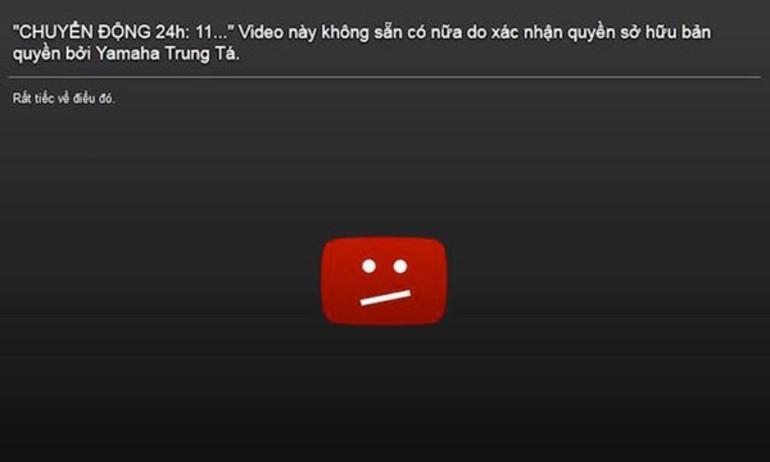 Vi phạm bản quyền, kênh Youtube của đài truyền hình VTV bị gỡ bỏ