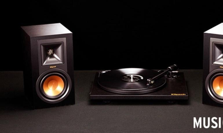 Klipsch Music Crate: hệ thống loa mini với nguồn phát mâm đĩa nhựa