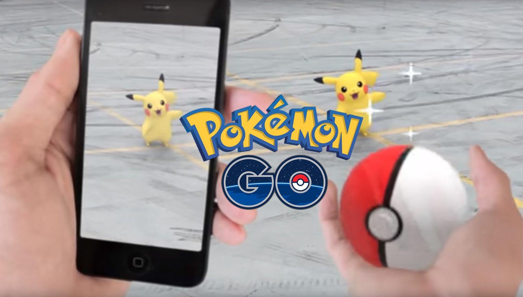 Chơi Pokemon Go trên smartphone trông sẽ như thế này