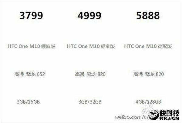 """HTC 10 lộ giá """"hoang tưởng"""", có thêm bản Snapdragon 652"""