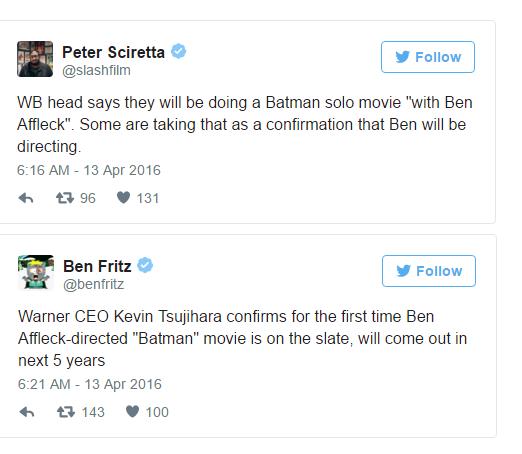 """Ben Affleck một tay """"cân"""" cả 3 vai trò chính trong """"Batman"""" mới"""
