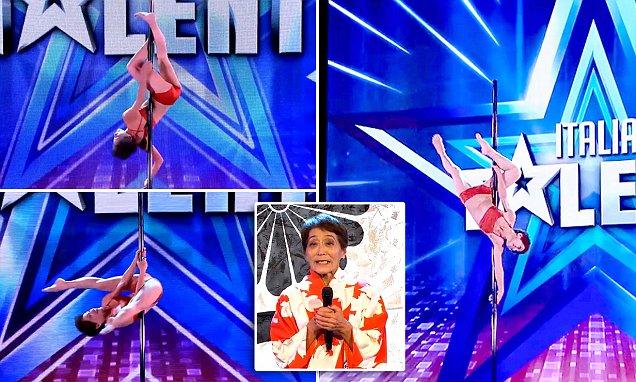 """Italy's Got Talent: Choáng với màn múa cột """"đỉnh"""" của cụ 70 tuổi"""