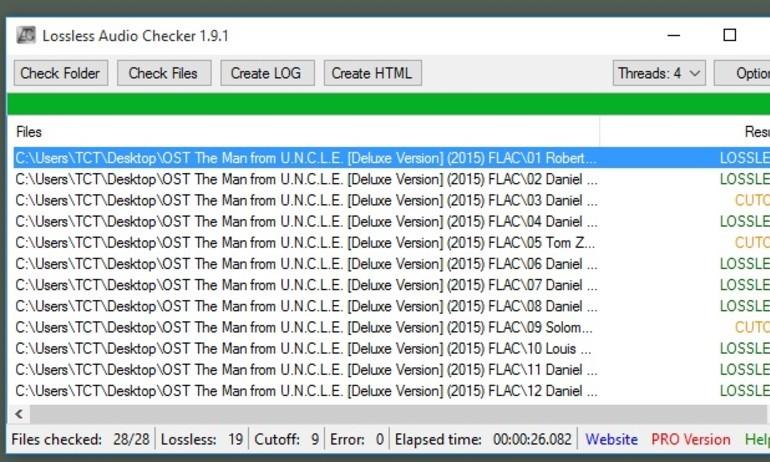 """Lossless Audio Checker: kiểm tra nhạc lossless """"xịn"""" miễn phí"""