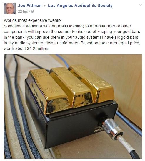 Sử dụng vàng khối làm thiết bị triệt rung?