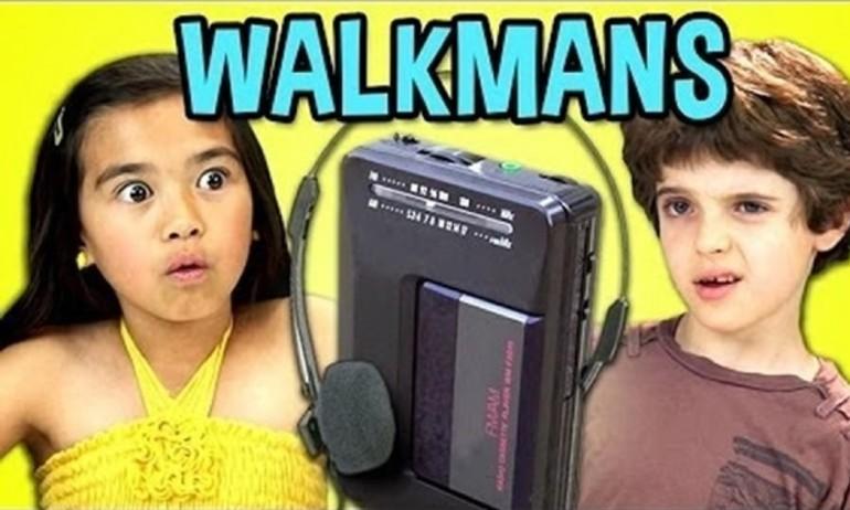 Trẻ em ngày nay phản ứng thế nào khi thấy máy Walkman cổ