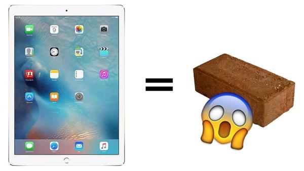 Cập nhật iOS 9.3.2 lại làm iPad Pro hóa cục gạch