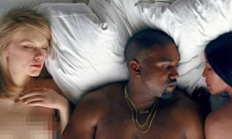 """Taylor Swift tức tối khi bị """"lột sạch"""" trong Famous của Kanye West"""