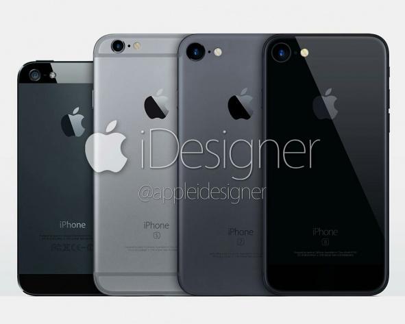 """iPhone 7 sẽ có màu """"đen không gian"""" chứ không phải xanh"""