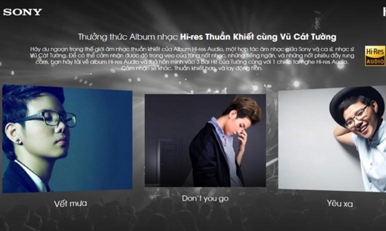 Sony tặng miễn phí những bản nhạc hi-res của Vũ Cát Tường