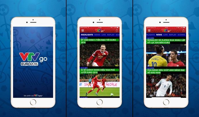 VTV tung ứng dụng xem EURO 2016 miễn phí trên smartphone