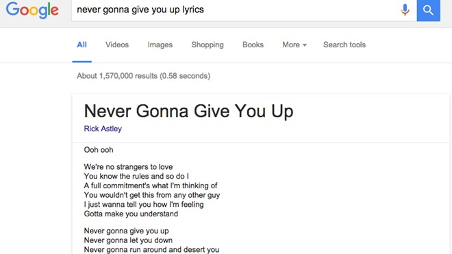 Google Search bất ngờ bổ sung hiển thị lời nhạc trực tiếp