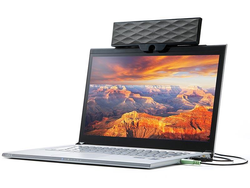 Sanwa ra mắt ra loa di động siêu nhẹ, có thể kẹp lên màn hình laptop