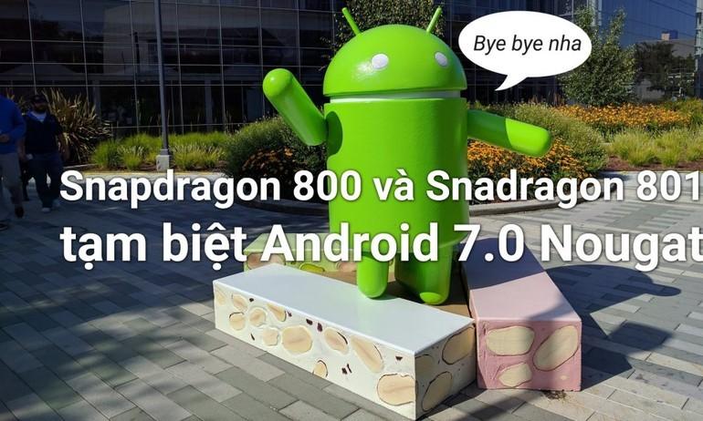 Flagship cũ không được lên Android 7.0, hãy trách Qualcomm!