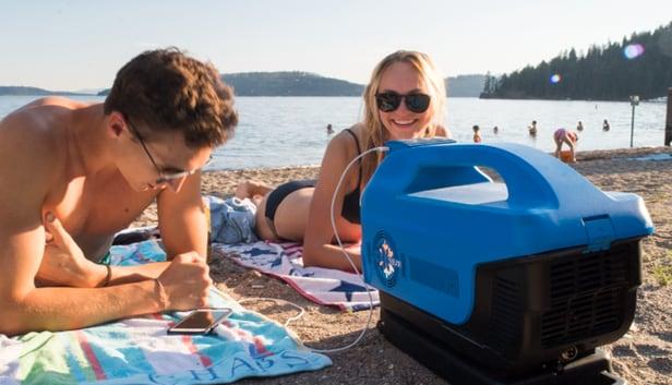 Zero Breeze: Điều hòa phát nhạc di động cho bãi biển mùa hè sôi động