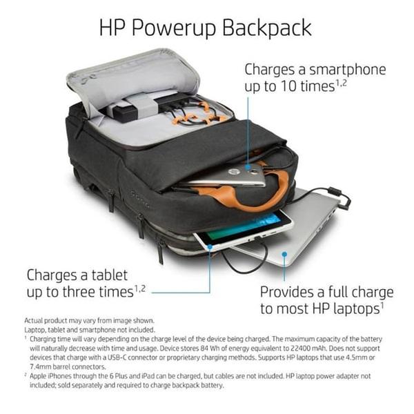 Dùng smartphone, laptop thả ga nhờ balo sạc pin HP