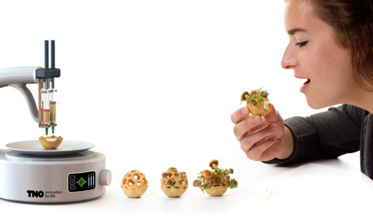 """""""In"""" đồ ăn thật tại gia nhờ công nghệ 3D"""